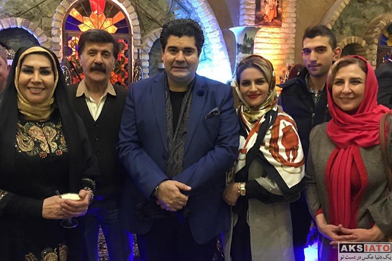 خوانندگان  سالار عقیلی و همسرش در جشن تولد 40 سالگی اش