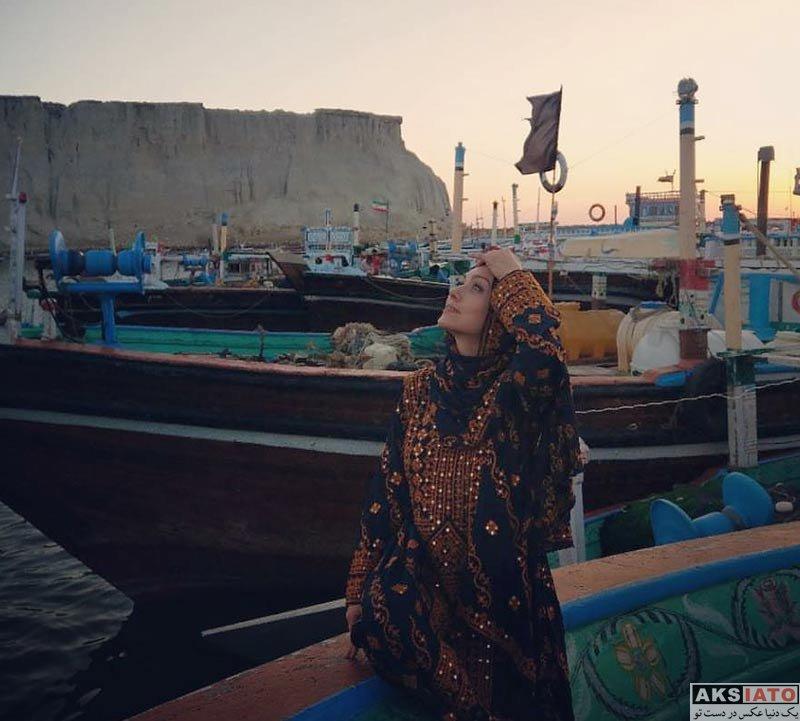 بازیگران بازیگران زن ایرانی  شهرزاد کمال زاده با لباس محلی در چابهار (4 عکس)