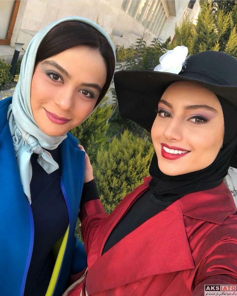 بازیگران بازیگران زن ایرانی  ترلان پروانه با لباس قرمز در فیلم شب لرزه (4 عکس)
