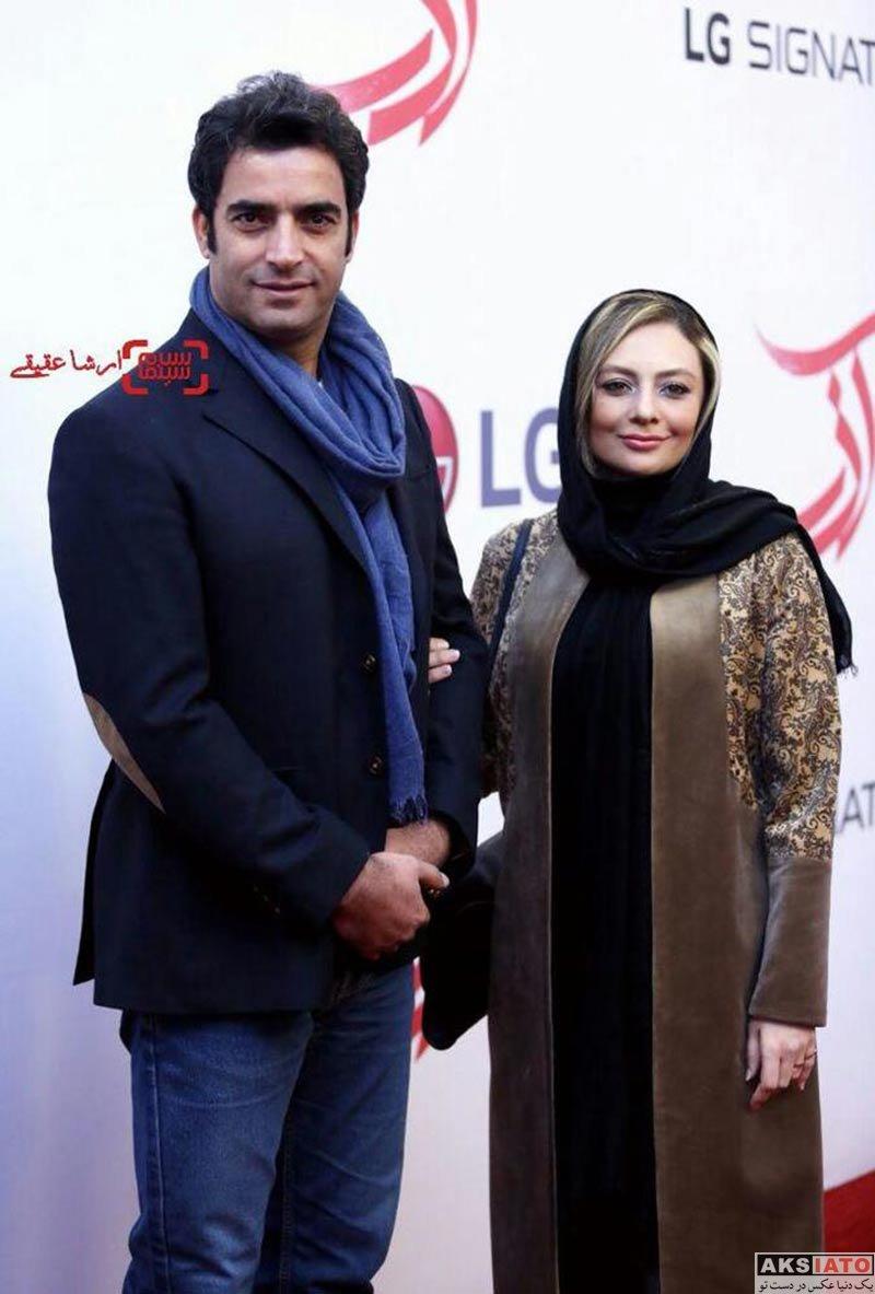 خانوادگی  یکتا ناصر و همسرش در اکران خصوصی فیلم آذر (4 عکس)