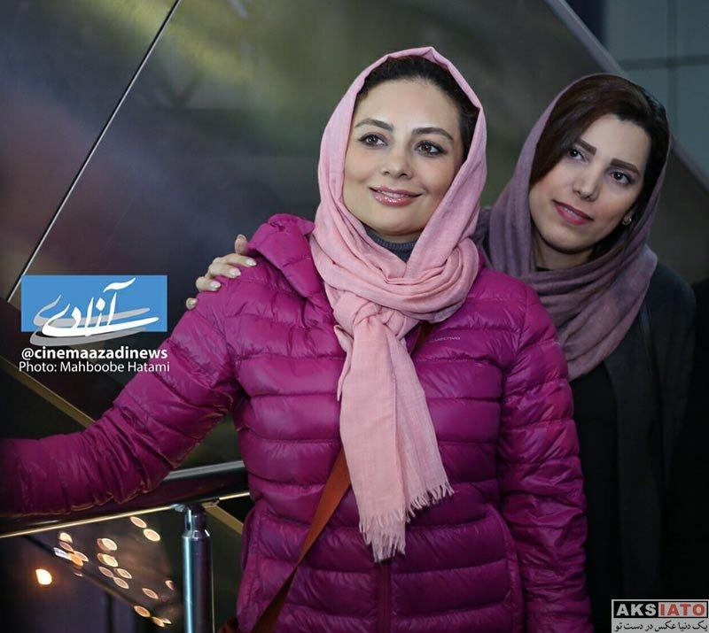 بازیگران بازیگران زن ایرانی  یکتا ناصر در اکران مردمی فیلم آینه بغل در سینما آزادی (5 عکس)