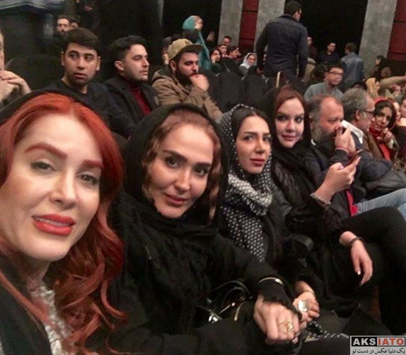 بازیگران بازیگران زن ایرانی  زهره فکور صبور در اکران خصوصی فیلم آینه بغل (3 عکس)