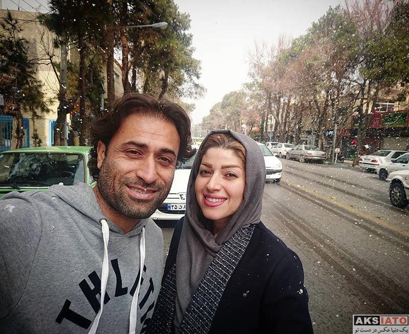 خانوادگی  عکس های مهدی رجب زاده و همسرش در دی ماه 96