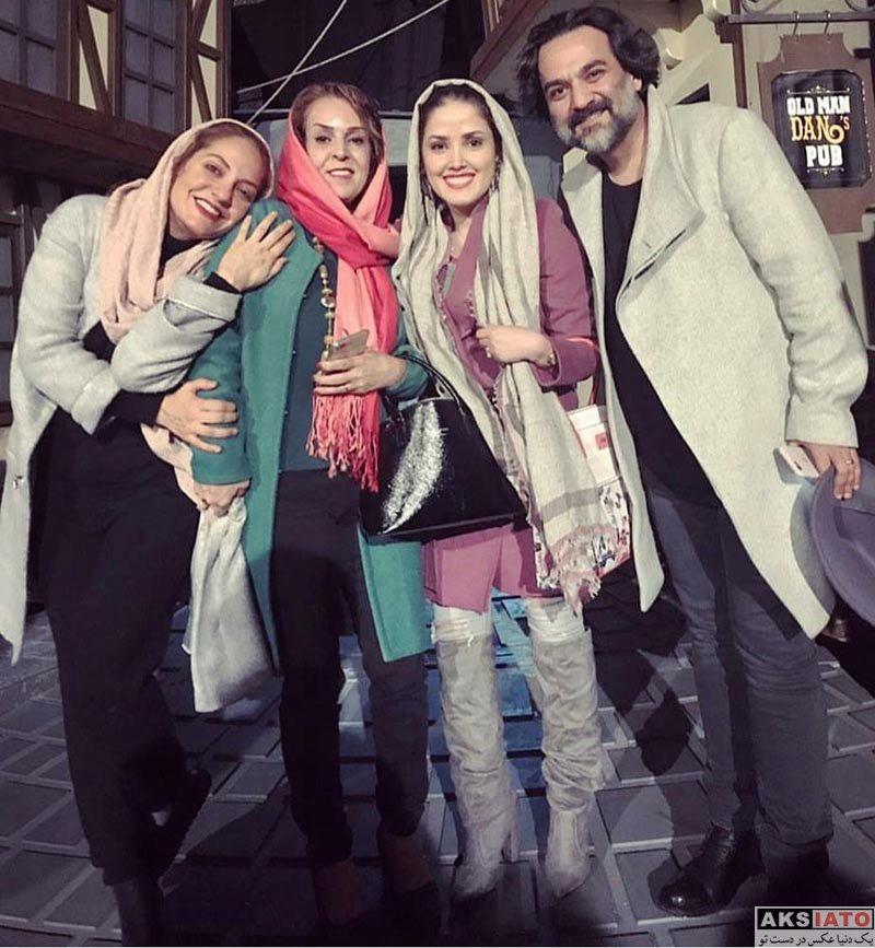 بازیگران بازیگران زن ایرانی  مهناز افشار و مهمانانش در اجرای نمایش اولیور توئیست (3 عکس)