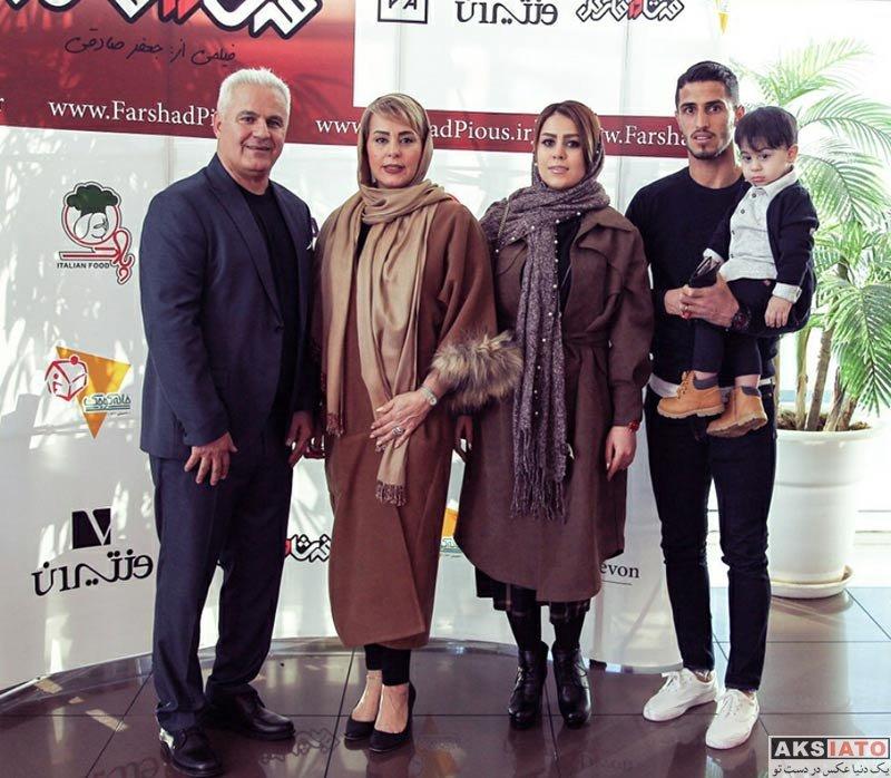 خانوادگی  علی علیپور و همسرش در مراسم رونمایی از مستند فرشاد آقای گل