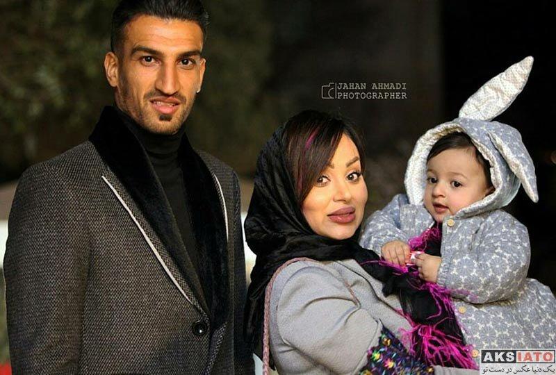 ورزشکاران مرد  حسین ماهینی و همسرش در افتتاحیه مزون وامو (3 عکس)