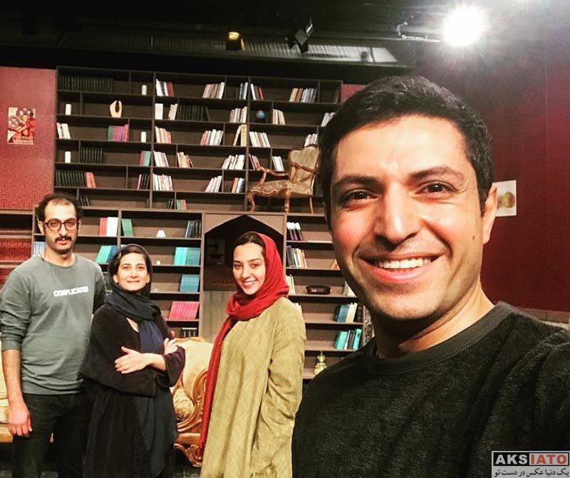 بازیگران  عکس های اشکان خطیبی و همسرش در دی ۹۶ (4 عکس)