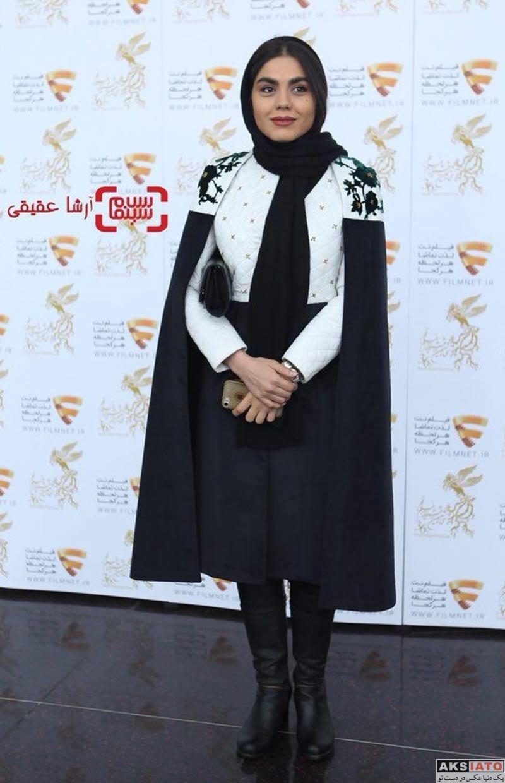 بازیگران بازیگران زن ایرانی  آزاده زارعی در برنامه دو قدم مانده به سیمرغ (6 عکس)