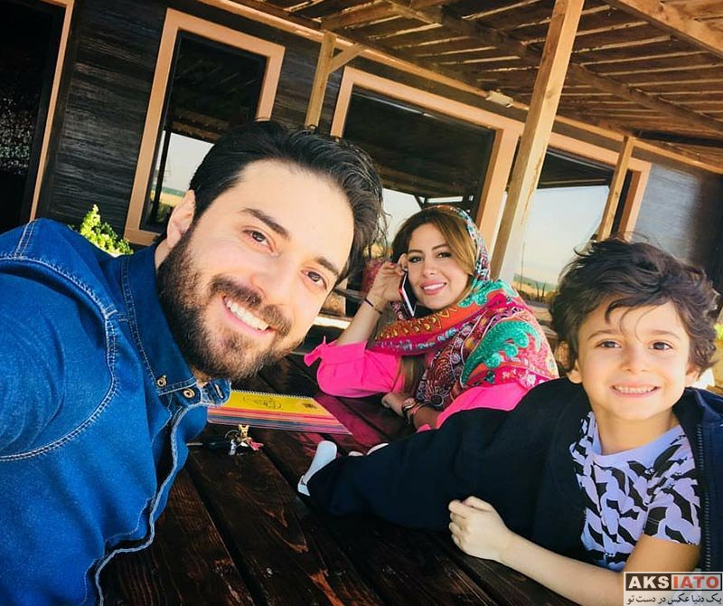 خانوادگی  بابک جهانبخش به همراه خانواده زیبایش