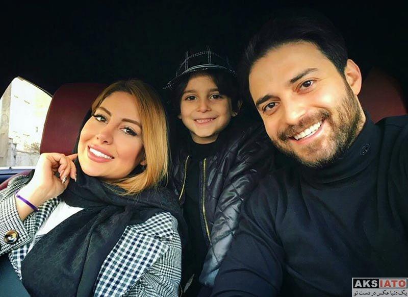 خانوادگی  سلفی بابک جهانبخش با همسر جدیدش در ماشین