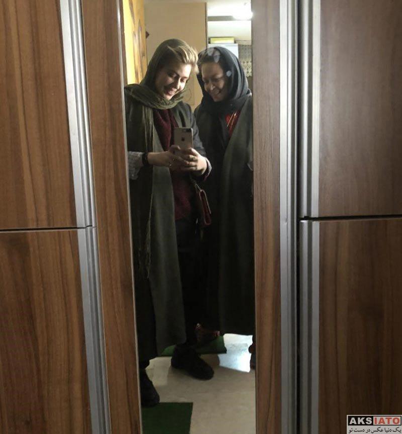 بازیگران بازیگران زن ایرانی  بهاره رهنما و دخترش پس از بازگشت به ایران (3 عکس)