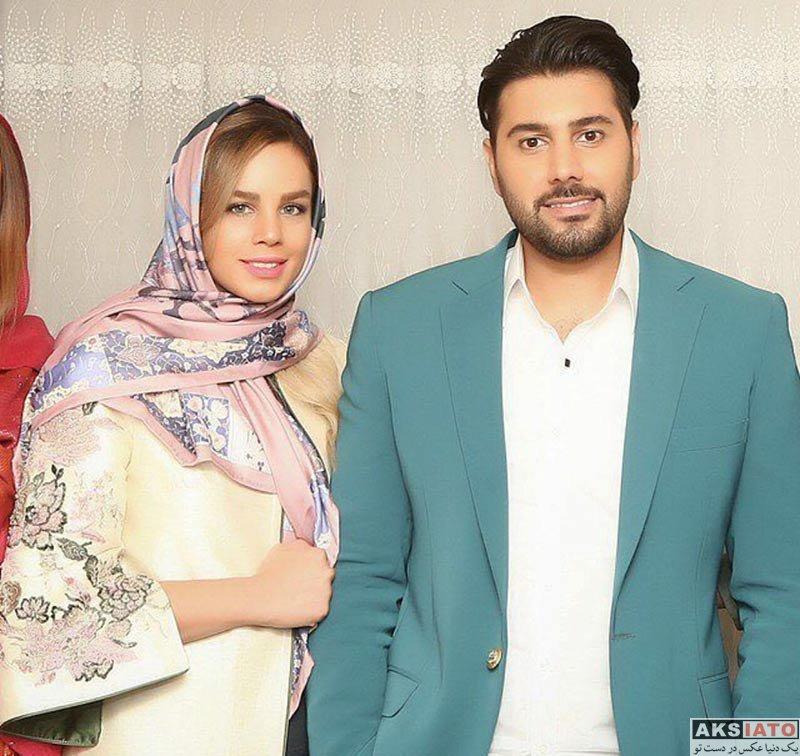 خانوادگی خوانندگان  عکس جدید احسان خواجه امیری و همسرش
