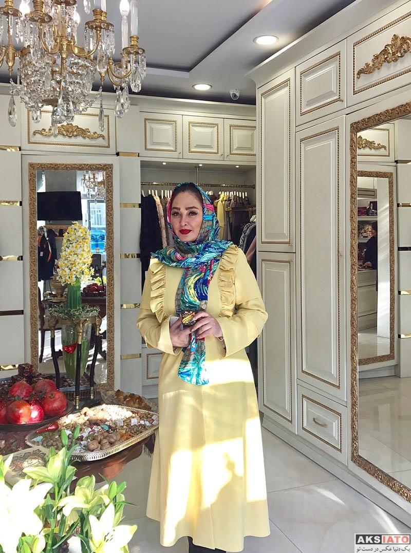 بازیگران بازیگران زن ایرانی  الهام حمیدی با دو لباس مختلف در فروشگاه نیوحجاب (2 عکس)