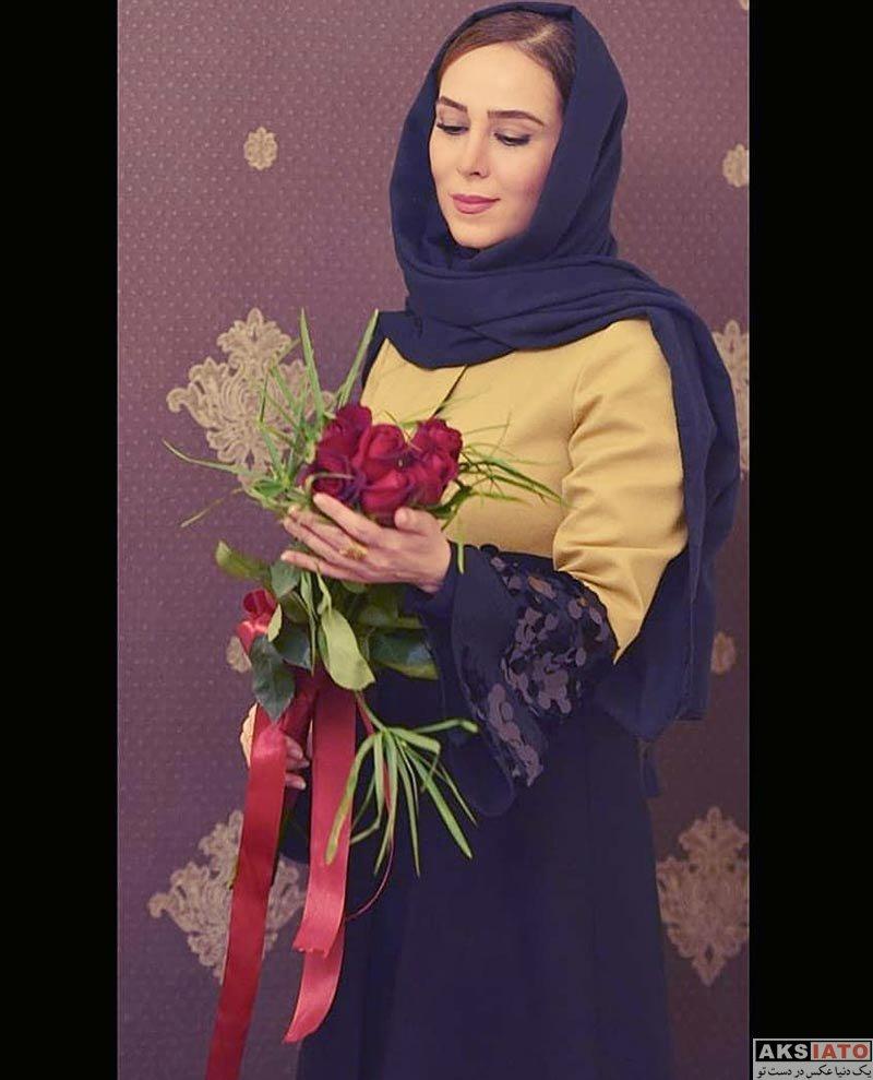 بازیگران بازیگران زن ایرانی  الهام جعفرنژاد در بک استیج ارکستر سمفونیک تهران (4 عکس)