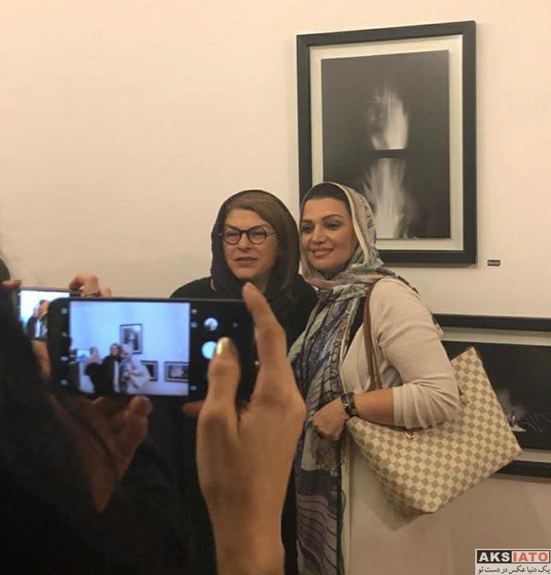 بازیگران بازیگران زن ایرانی  الهام پاوه نژاد در نمایشگاه گروهی همروایی (2 عکس)