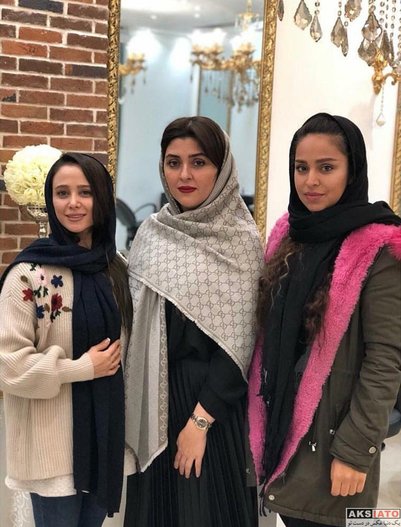 بازیگران بازیگران زن ایرانی  الناز حبیبی در سالن زیبایی شیرین مقدم در بهمن 96 (5 عکس)