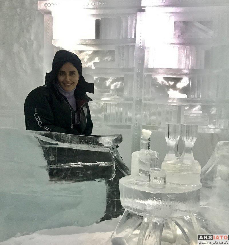 بازیگران بازیگران زن ایرانی  الناز شاکردوست در هتل یخی در سوئد (6 عکس)