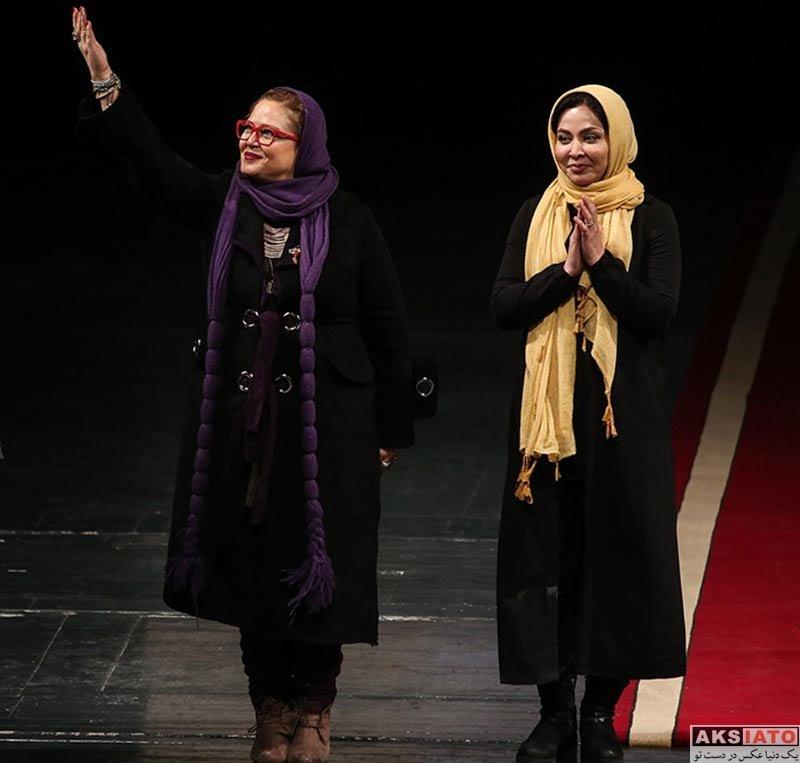 بازیگران بازیگران زن ایرانی  فقیهه سلطانی در اختتامیه سی و ششمین جشنواره تئاتر فجر (3 عکس)