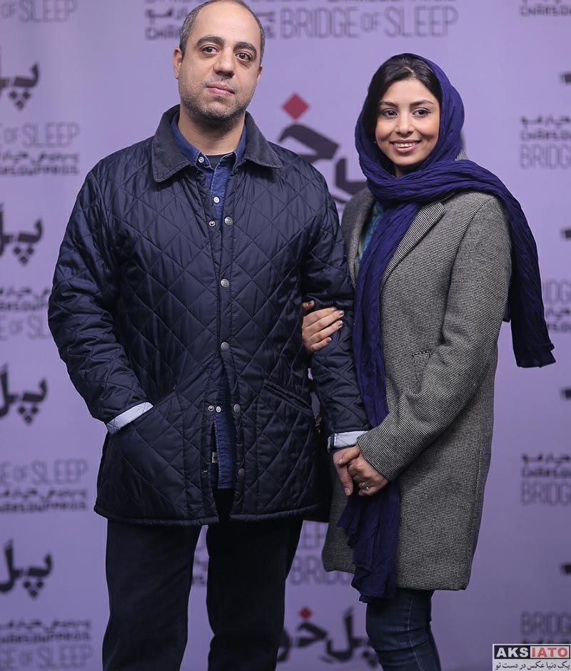 بازیگران بازیگران زن ایرانی  فتانه ملک محمدی و همسرش در اکران خصوصی فیلم پل خواب (2 عکس)