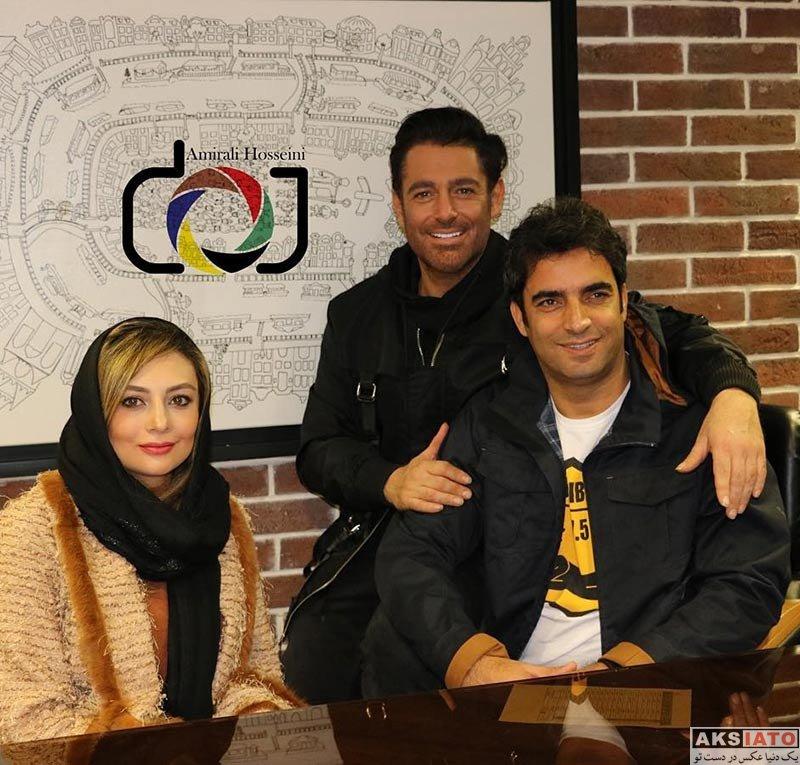 بازیگران بازیگران مرد ایرانی  محمدرضا گلزار در اکران مدیم فیلم آینه بغل در سینما کوروش (5 عکس)