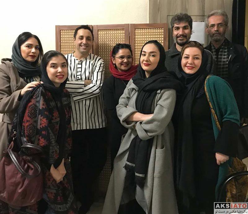 بازیگران بازیگران زن ایرانی  هانیه توسلی و دوستانش در اجرای نمایش خشم و هیاهو (3 عکس)