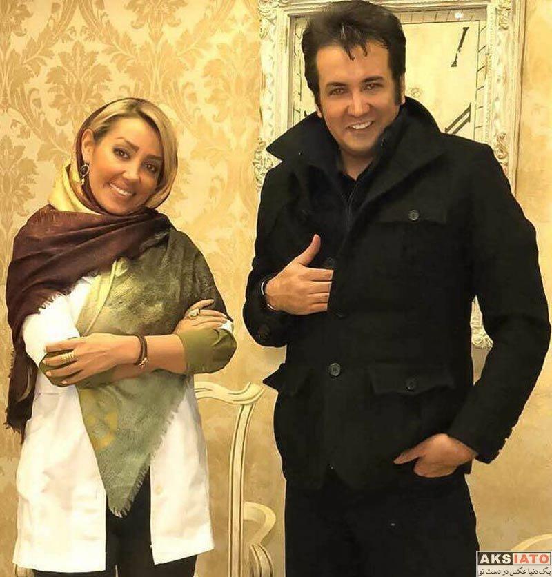 بازیگران بازیگران مرد ایرانی  حسام نواب صفوی در کنار خانم دندانپزشک