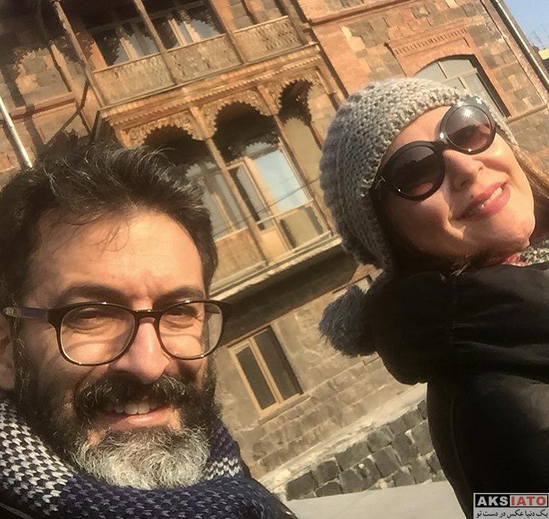 خانوادگی  لاله اسکندری و همسرش در ارمنستان (2 عکس)