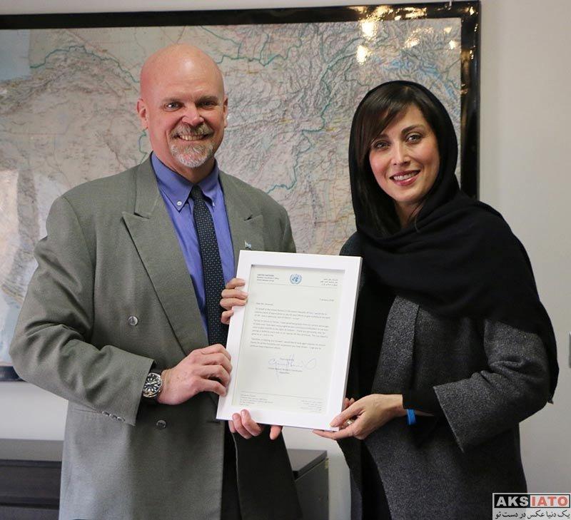 بازیگران بازیگران زن ایرانی  مهتاب کرامتی در دفتر سازمان ملل در ایران (۲ عکس)