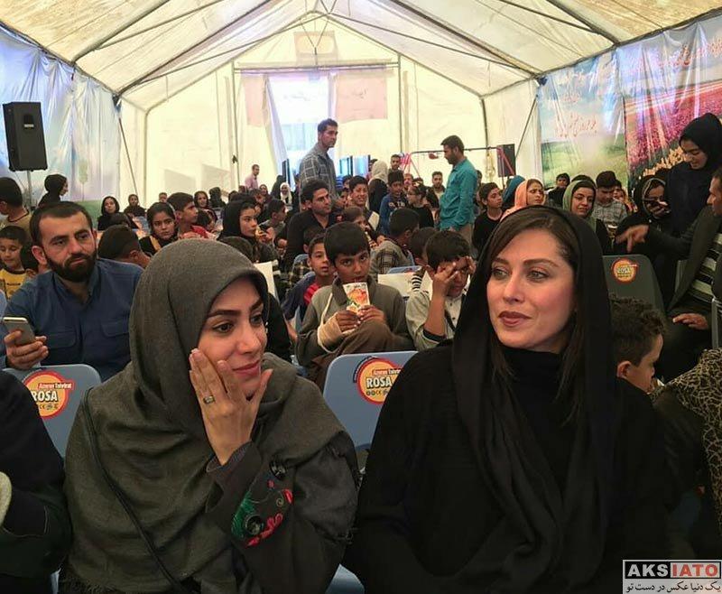 بازیگران بازیگران زن ایرانی  مهتاب کرامتی و دوستانش در کرمانشاه (2 عکس)