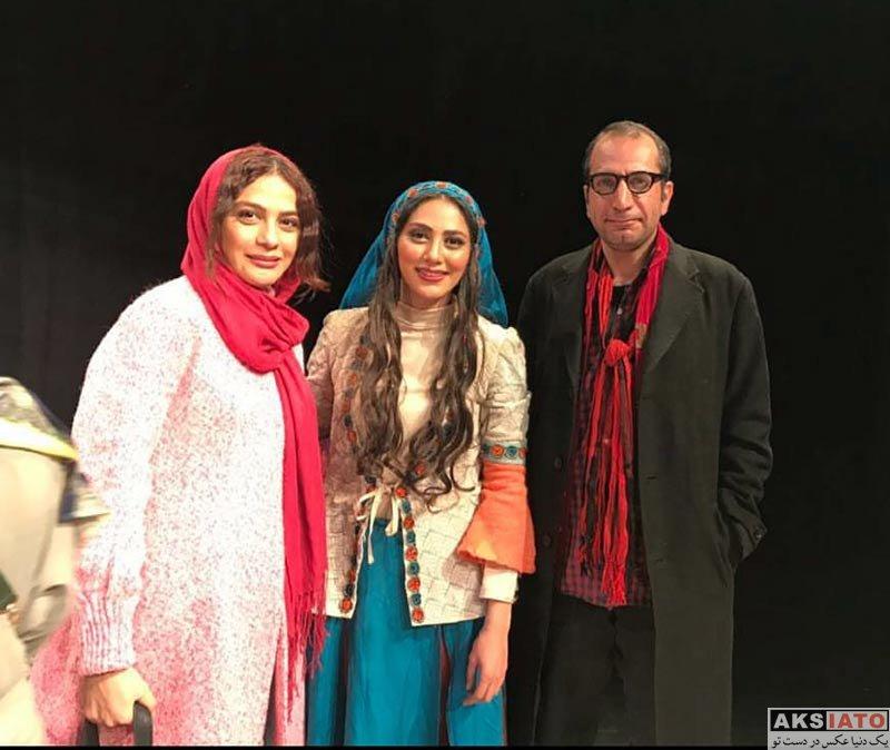بازیگران بازیگران زن ایرانی  مارال فرجاد در اجرای نمایش شیرهای خان بابا سلطنه (2 عکس)
