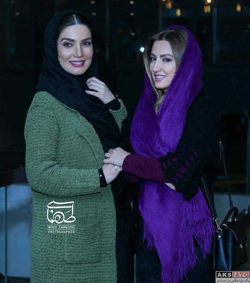 بازیگران بازیگران زن ایرانی  متین ستوده در اکران خصوصی فیلم آذر (۲ عکس)