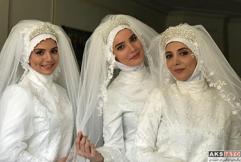 بازیگران بازیگران زن ایرانی  متین ستوده و رویا میرعلمی با لباس عروس (4 عکس)