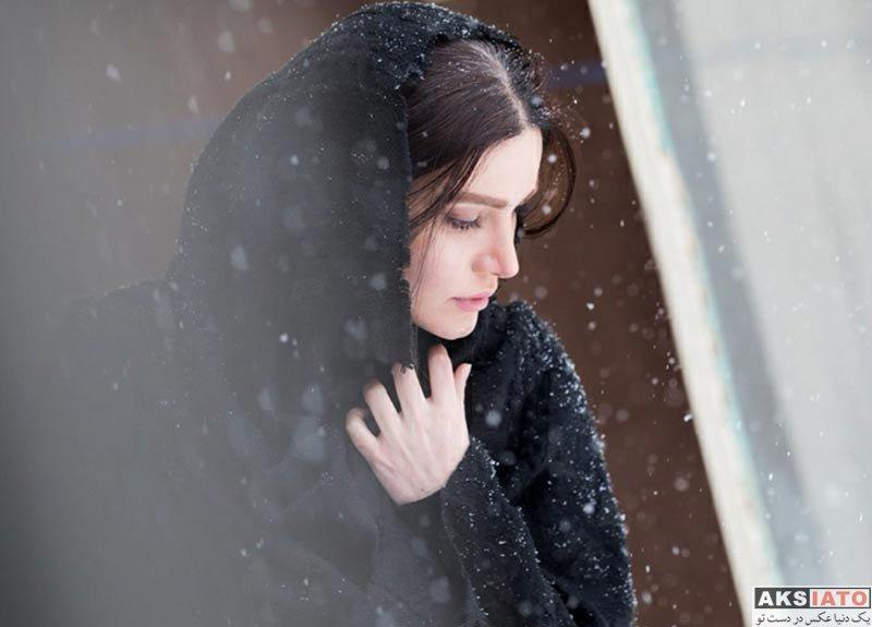 بازیگران بازیگران زن ایرانی  متین ستوده در روز برفی تهران در بهمن ماه ۹۶ (3 عکس)