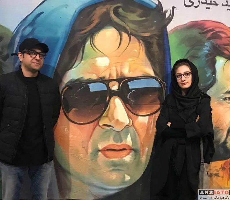 بازیگران بازیگران زن ایرانی  مینا ساداتی در نمایشگاه عکس پلاکارد (2 عکس)