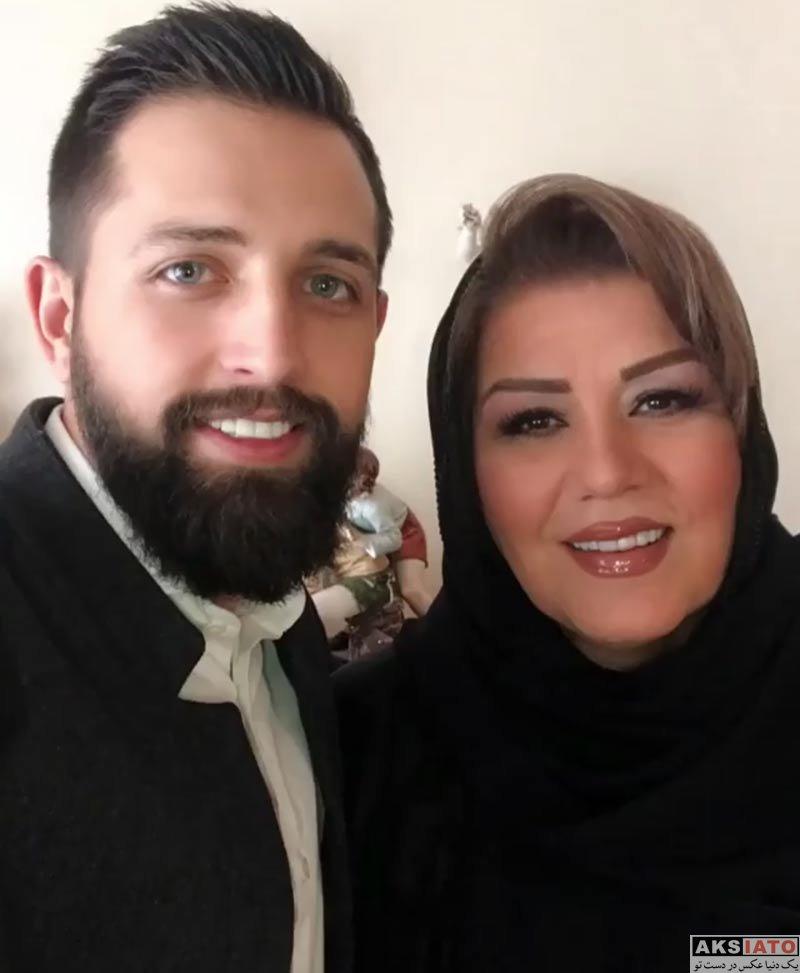 بازیگران بازیگران مرد ایرانی  عکس های محسن افشانی بهراه مادرزنش (2 تصویر)