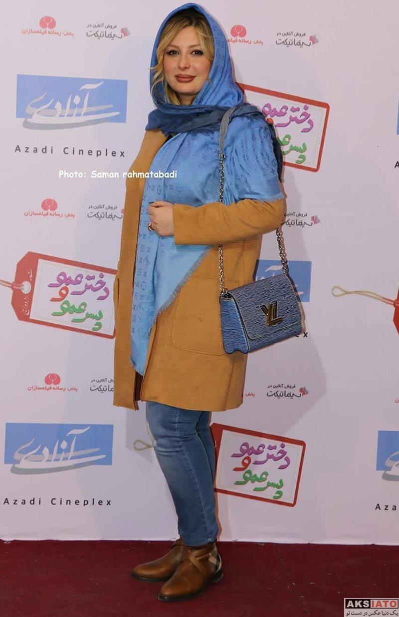 بازیگران بازیگران زن ایرانی  نیوشا ضیغمی در اکران مردمی فیلم دختر عمو پسر عمو (4 عکس)