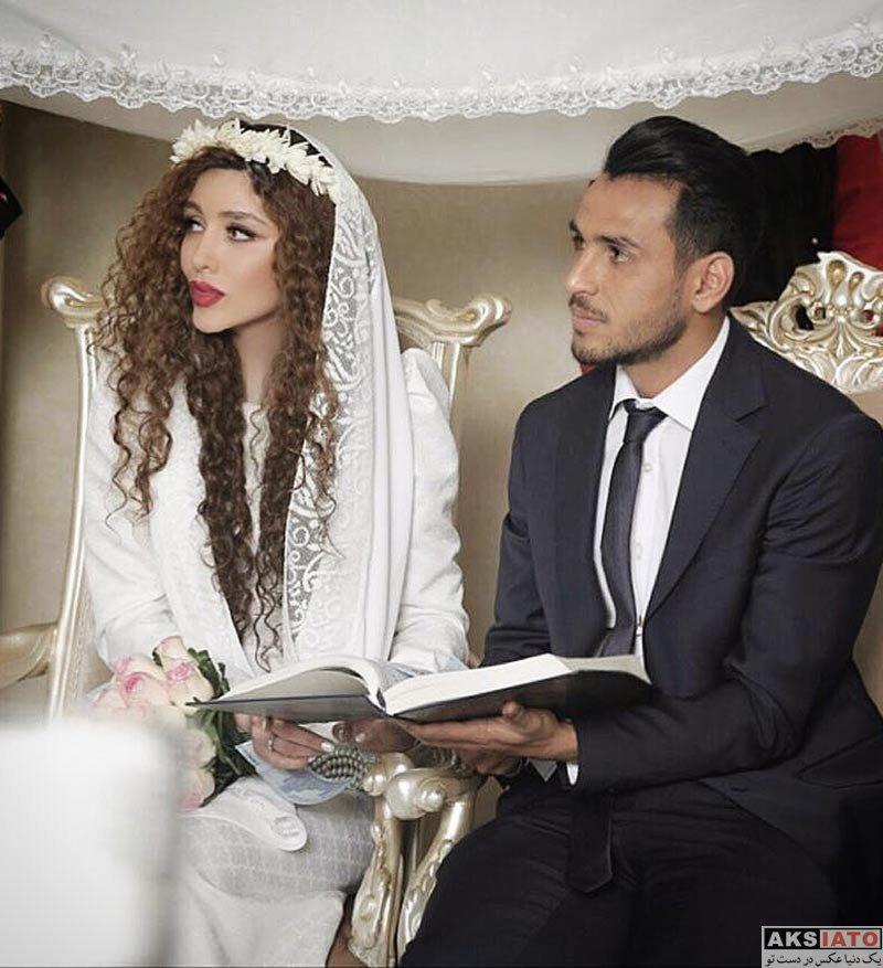 بازیگران بازیگران زن ایرانی  عکس های مراسم عقد عروسی نیکی محرابی و یعقوب کریمی