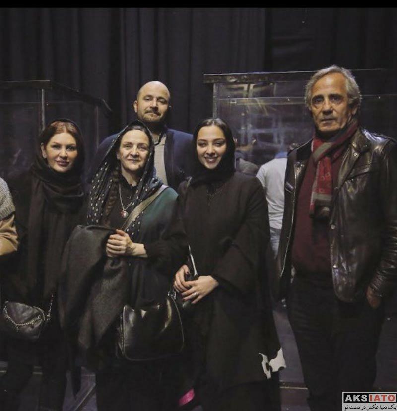 بازیگران بازیگران زن ایرانی  نیکی مظفری و پدرش در ارای نمایش قدم زدن با اسب (2 عکس)