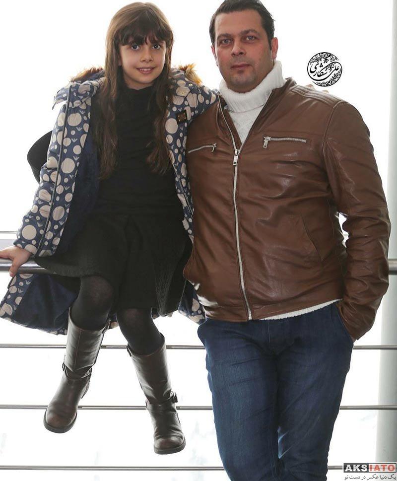 بازیگران بازیگران مرد ایرانی  پژمان بازغی و دخترش در برنامه دو قدم مانده به سیمرغ (3 عکس)