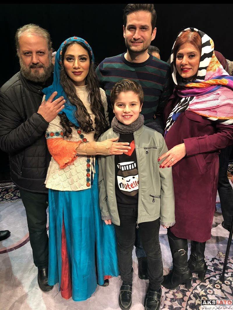 خانوادگی  پویا امینی و همسرش در اجرای نمایش شیرهای خان بابا سلطنه