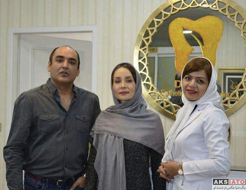 بازیگران  عکس های حدیث فولادوند و همسرش در دی ماه ۹۶ (6 تصویر)
