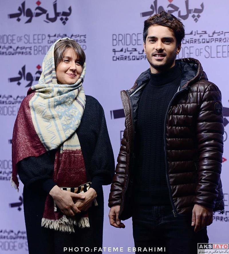 خانوادگی  ساعد سهیلی و همسرش در اکران خصوصی فیلم پل خواب (۳ عکس)