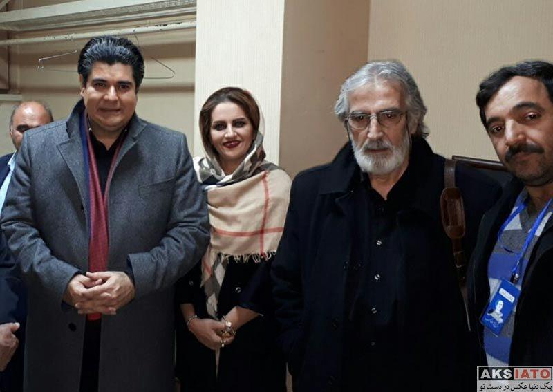 بازیگران خانوادگی  سالار عقیلی و همسرش در جشنواره ایرج بسطامی (2 عکس)