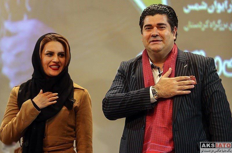 خانوادگی  سالار عقیلی و همسرش در مراسم تجلیل از این خواننده (4 عکس)