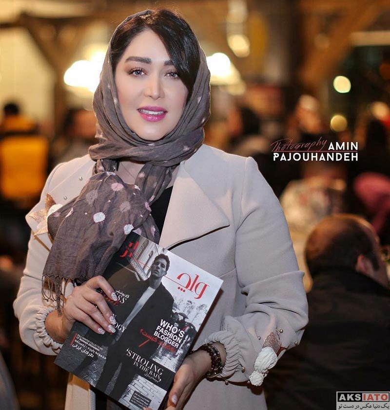 بازیگران بازیگران زن ایرانی  سارا منجزی در جشن رونمایی از مجله واچار (3 عکس)