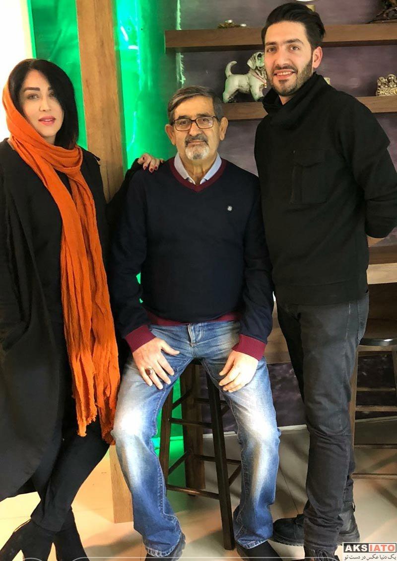 بازیگران بازیگران زن ایرانی  عکس های سارا منجزی پور با پدر و برادرش در دی ماه 96