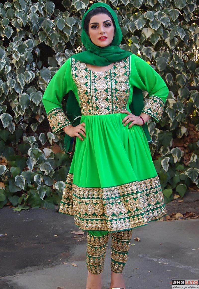 بازیگران بازیگران زن ایرانی  سارا سهیلی با لباس سنتی افغانی (2 عکس)