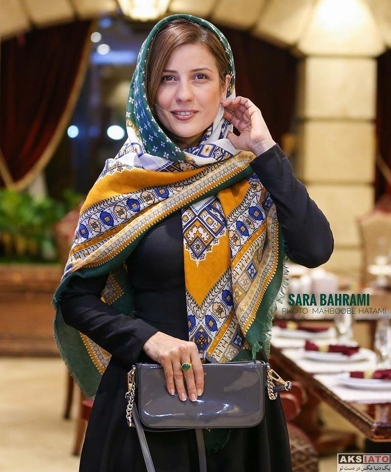 بازیگران بازیگران زن ایرانی  سارا بهرامی در جشن سریال ساخت ایران ۲ (2 عکس)