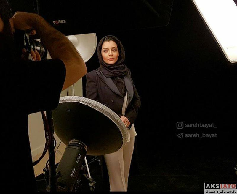 بازیگران بازیگران زن ایرانی  ساره بیات در حال گرفتن فتوشات (4 عکس)