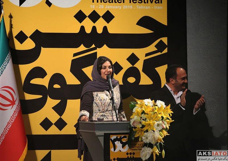 بازیگران بازیگران زن ایرانی  ستاره اسکندری در اختتامیه سی و ششمین جشنواره تئاتر فجر (3 عکس)